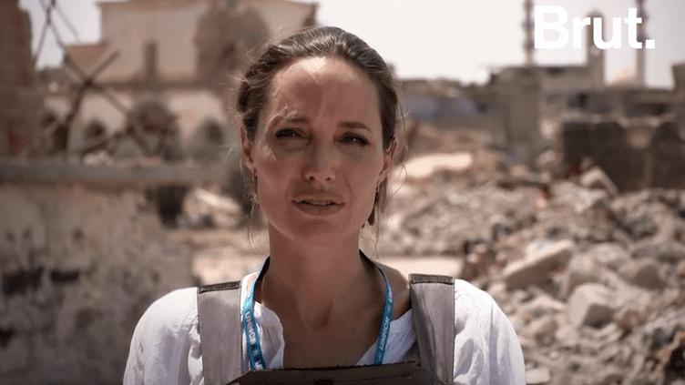 VIDEO. À Mossoul, Angelina Jolie dépeint un tableau de la ville très préoccupant (BRUT)