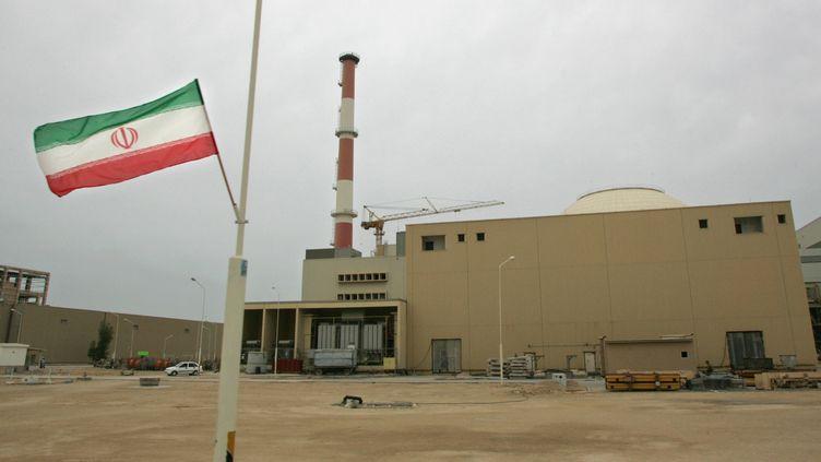 Le bâtiment du réacteur nucléaire de Bushehr (Iran), le 3 avril 2007. (BEHROUZ MEHRI / AFP)