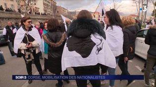 Des milliers de Corses sont descendus dans la rue. (FRANCE 3)