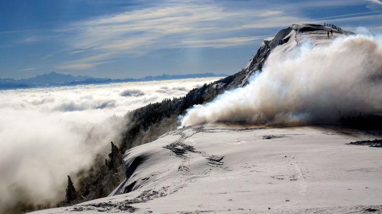 ILLUSTRATION. La piste de l'avalanche privilégiée par la science pour expliquer la mort de randonneurs, en février1969, dans l'Oural. (/NCY / MAXPPP)