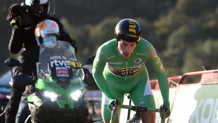 Primoz Roglic (Jumbo-Visma) impérial dans le chrono sur la Vuelta (MIGUEL RIOPA / AFP)