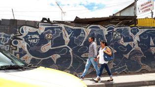 Dans une rue de Bogota, en Colombie. (BENJAMIN ILLY / RADIO FRANCE)