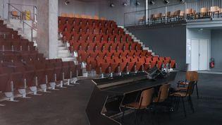 L'amphithéâtre de l'Ecole nationale d'architecture de Nantes fermé en raison du coronavirus. Photo prise le 20 mars 2020. (AFP - SAMUEL HENSE / HANS LUCAS)
