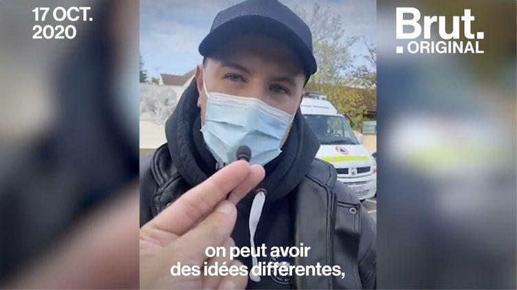"""VIDEO. Enseignant assassiné : """"Si on est blessé, on peut débattre mais pas abattre"""", témoigne un enseignant (BRUT)"""