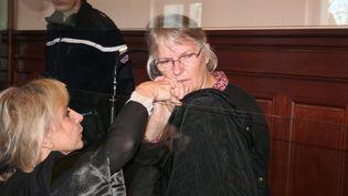 Jacqueline Sauvage avait été condamnée pour le meurtre de son mari avant d'etre graciée par François Hollande. (PHILIPPE RENAUD / REPUBLIQUE DU CENTRE  VIA MAXPPP)