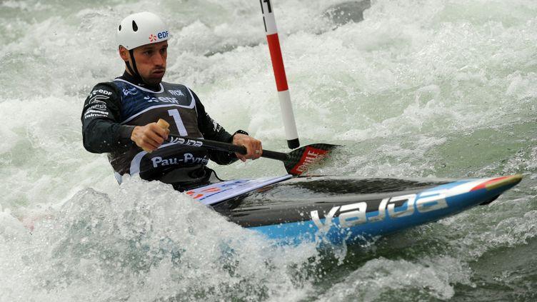 Denis Gargaud, qualifié pour les Jeux de Rio en C1 (GAIZKA IROZ / AFP)