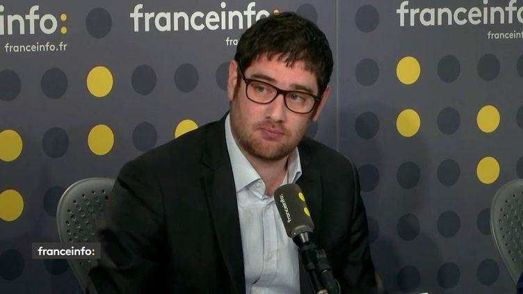 Rudy Reichstadt, directeur de Conspiracy Watch, l'observatoire du conspirationnisme et membre de l'Observatoire des radicalités politiques de la Fondation Jean-Jaurès, le 6 février 2019. (RADIO FRANCE / FRANCEINFO)