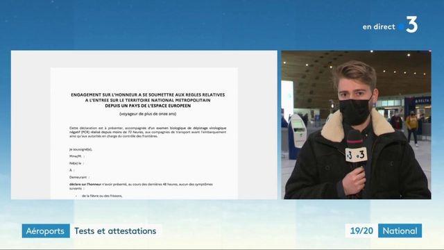 Fermeture des frontières : tests et attestations obligatoires dans les aéroports