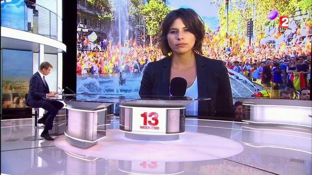 Espagne : les anti-indépendantistes manifestent à Barcelone