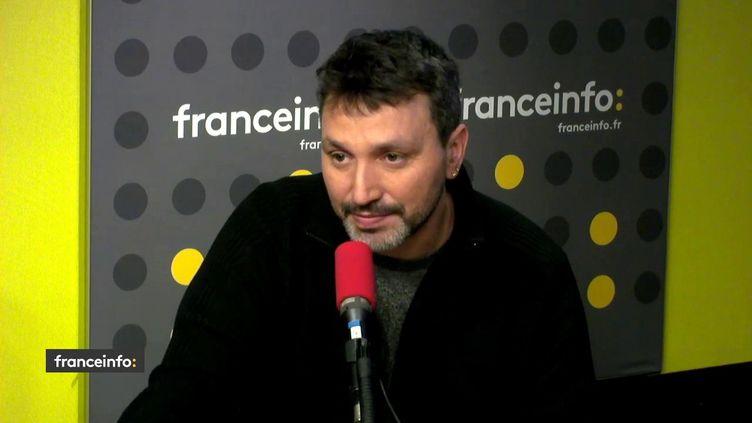 L'artiste C215, le 12 février 2019 sur franceinfo. (FRANCEINFO / RADIOFRANCE)