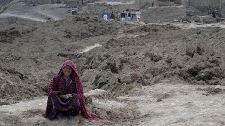 Coulées de boue ayant englouti le village deAab Bareek, dans l'extrême nord-est de l'Afghanistan. (AFGHANISTAN-LANDSLIDE)