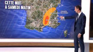 Capture d'écran montrant Philippe Verdier, présentateur de la météo suFrance 2, le 9 octobre 2014. ( FRANCE 2)