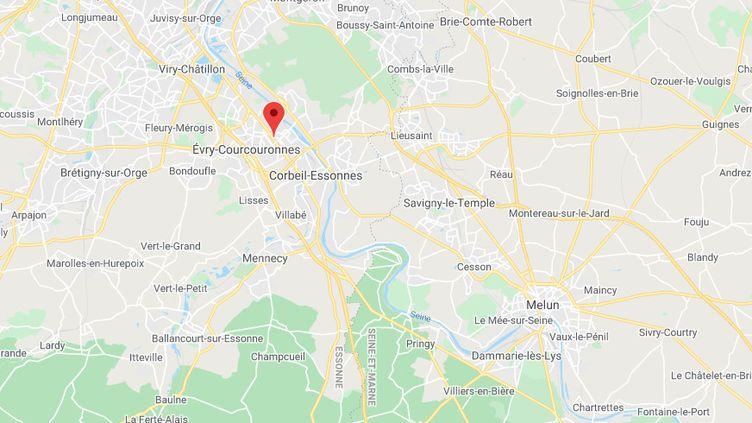 La commune d'Évry-Courcouronnes, dans l'Essonne. (GOOGLE MAPS)