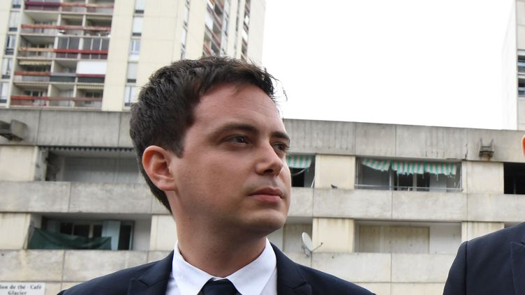 Yoann Gillet,conseiller municipal Rassemblement national de Nîmes, le 12 mai 2017. (PASCAL GUYOT / AFP)