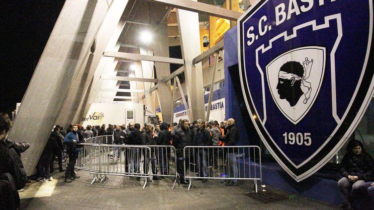 Les abords du stade Armand-Cesari (Furiani), antre du SC Bastia. (YANNICK GRAZIANI / AFP)