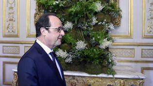 Le président de la République François Hollande le 1er mai à l'Elysée. (ALAIN JOCARD / AFP POOL)