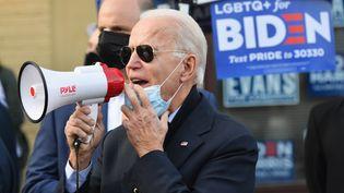 Le candidat démocrate à la Maison Blanche Joe Biden à Philadelphie, en Pennsylvannie, le mardi 3 novembre 2020. (ANGELA WEISS / AFP)