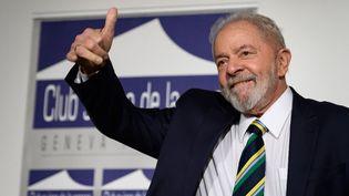 L'ancien président brésilien Lula, le 6 mars 2020, à Genève (Suisse). (FABRICE COFFRINI / AFP)