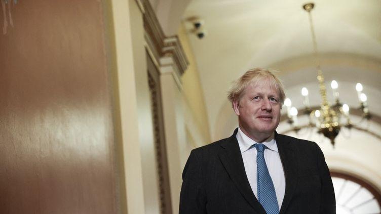 Le Premier ministre britannique, Boris Johnson, lors d'une visite au Congrès américain à Washington, le 22 septembre 2021. (ANNA MONEYMAKER / GETTY IMAGES NORTH AMERICA / AFP)