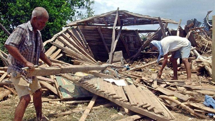 Une maison détruite par le séisme (AFP/ANDRES TERRERO)