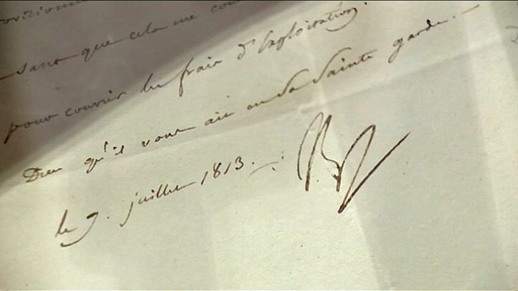Original d'une lettre signée de la main de Napoléon (France 3 Corse)