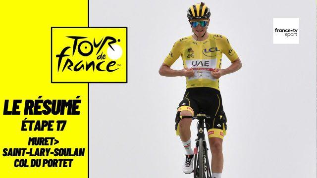 Tadej Pogačar s'impose au terme de cette 17ème étape, sa deuxième victoire sur cette édition du Tour de France. Premier français, David Gaudu termine 4ème de l'étape. En ce 14 juillet, Anthony Perez a longtemps cru à la victoire avant de se faire rattraper à moins de 9 kilomètres de l'arrivée.
