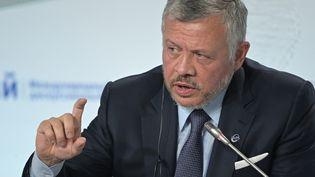 Le roi de Jordanie Abdallah II, le 3 octobre 2019, à Sotchi (Russie). (SERGEY GUNEEV / AFP)