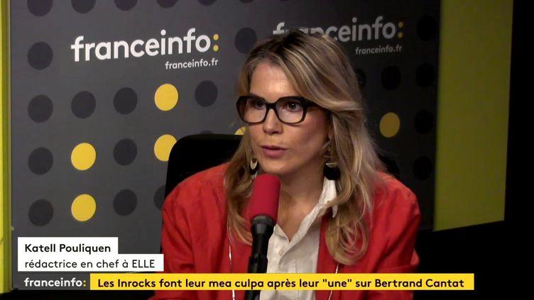 Katell Pouliquen, rédactrice en chef au magazine Elle, le 18 octobre 2017. (FRANCEINFO)