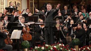 Mariss Jansons dirige le concert du nouvel an, le 1er janvier à Vienne  (DIETER NAGL / AFP)