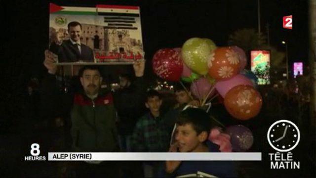 Syrie : l'armée de Bachar Al-Assad célèbre la reprise totale d'Alep