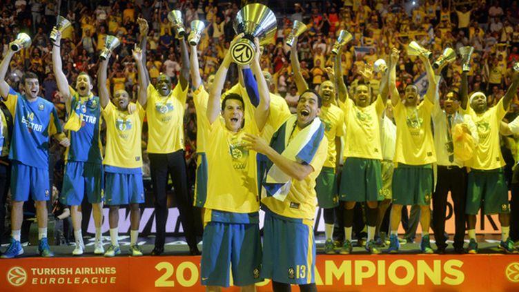 La saison passée, le Maccabi Tel-Aviv avait créé la sensation en battant Madrid en finale  (OLIVIER MORIN / AFP)