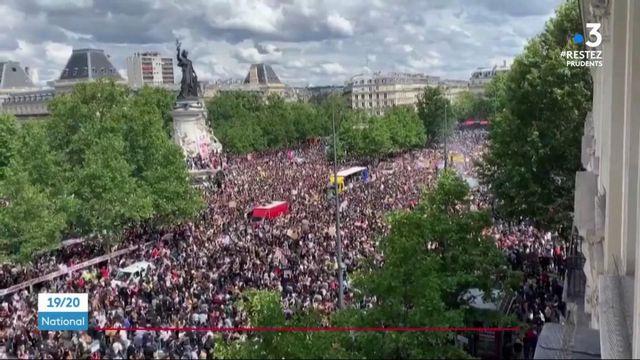 Paris : journée de manifestation contre les violences policières et le racisme