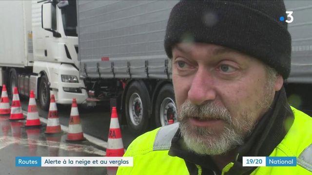 Météo : le risque de verglas a entraîné l'immobilisation de centaines de poids-lourds dans la Vienne