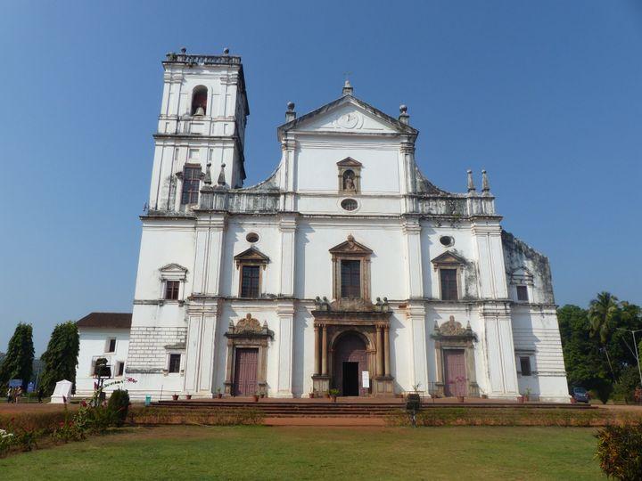 La cathédrale Sainte-Catherine, Vieux-Goa, dans l'Etat de Goa (sud-ouest de l'Inde), le 6 février 2020 (FTV - Laurent Ribadeau Dumas)