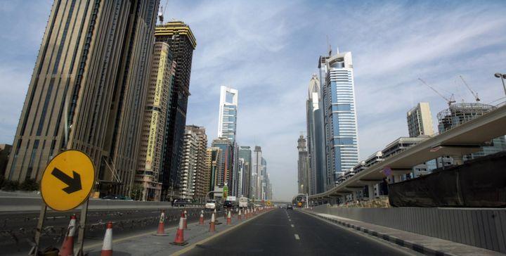 L'enquête sur l'assassinat de la journaliste a conduit les journalistes du Projet Daphne à Dubaï. (KARIM SAHIB / AFP)