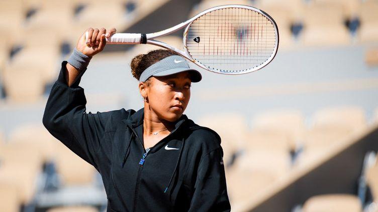 Naomi Osaka lors de son premier match à Roland-Garros 2021, le 30 mai. (ROB PRANGE / SPAIN DPPI)