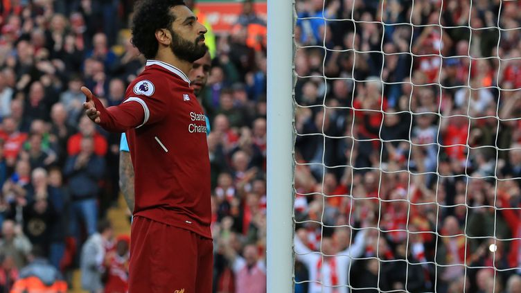 L'attaquant égyptien Mohamed Salah, ici sous le maillot de Liverpool (LINDSEY PARNABY / AFP)