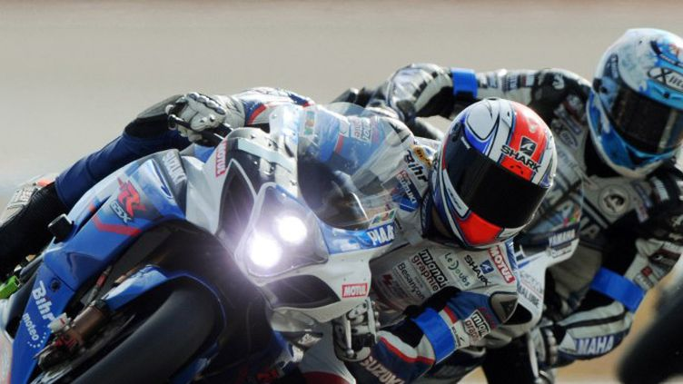 La Suzuki pilotée par Vincent Phillipe (JEAN-FRANCOIS MONIER / AFP)