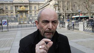 Yves Lefebvre, le secrétaire général Unité-police FO, le 15 mars 2017 à Paris. (JACQUES DEMARTHON / AFP)