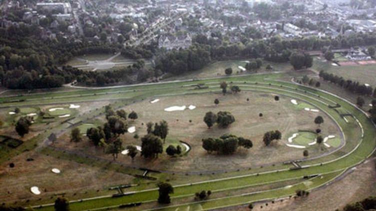Vue aérienne de l'hippodrome de Compiègne (AFP/JULIEN BARBARE)