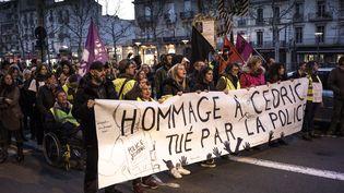 Une marche blanche en l'honneur de Cédric Chouviat, le 15 janvier 2020 à Perpignan (Pyrénées-Orientales). (NICOLAS PARENT / MAXPPP)