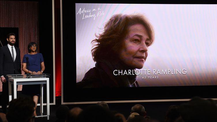 Charlotte Rampling est nominée pour l'Oscar de la meilleure actrice 2016  (MARK RALSTON / AFP)