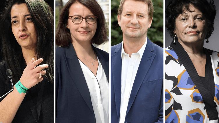 Karima Delli, Cécile Duflot, Yannick Jadot et Michèle Rivasi, les quatre candidats à la primaireécologiste. (MAXPPP / MAXPPP / MAXPPP / AFP)