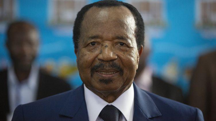 Le président camerounais Paul Biya à Yaoundé, le 7 octobre 2018. (NIC BOTHMA / EPA / AFP)