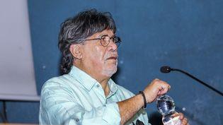 L'écrivain chilienLuis Sepulveda à Turin en mai 2019. (MASSIMILIANO FERRARO / NURPHOTO)