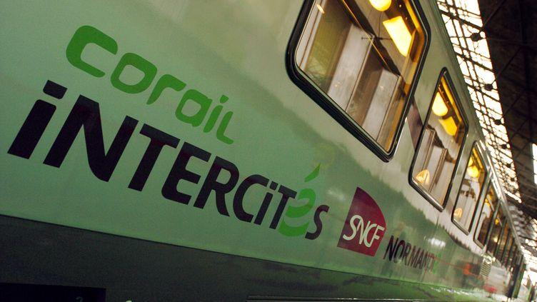 Un train Intercités, en 2007, à la gare Saint-Lazare, à Paris. (JEAN AYISSI / AFP)