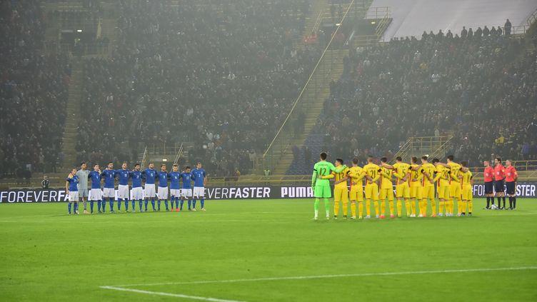 Italiens et Roumains ont rendu hommage à la France (GIUSEPPE CACACE / AFP)