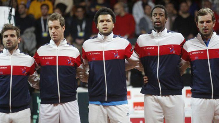 l'équipe de France de Coupe Davis 2014 (JEAN MARC MOUCHET / DPPI MEDIA)