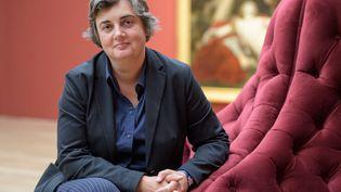La présidente du musée d'Orsay et future présidente du musée du Louvre, Laurence des Cars, le 21 septembre 2017 à Munich (Allemagne). (MATTHIAS BALK / DPA / AFP)