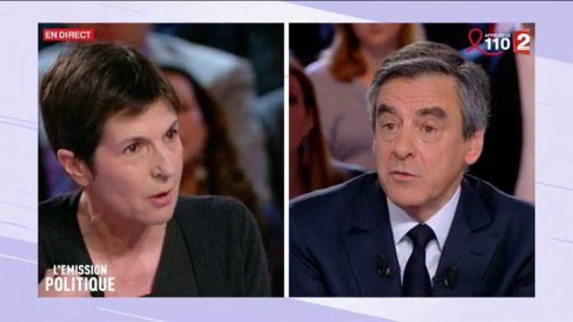 Très vif échange entre Christine Angot et François Fillon